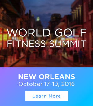 2016 World Golf Fitness Summit